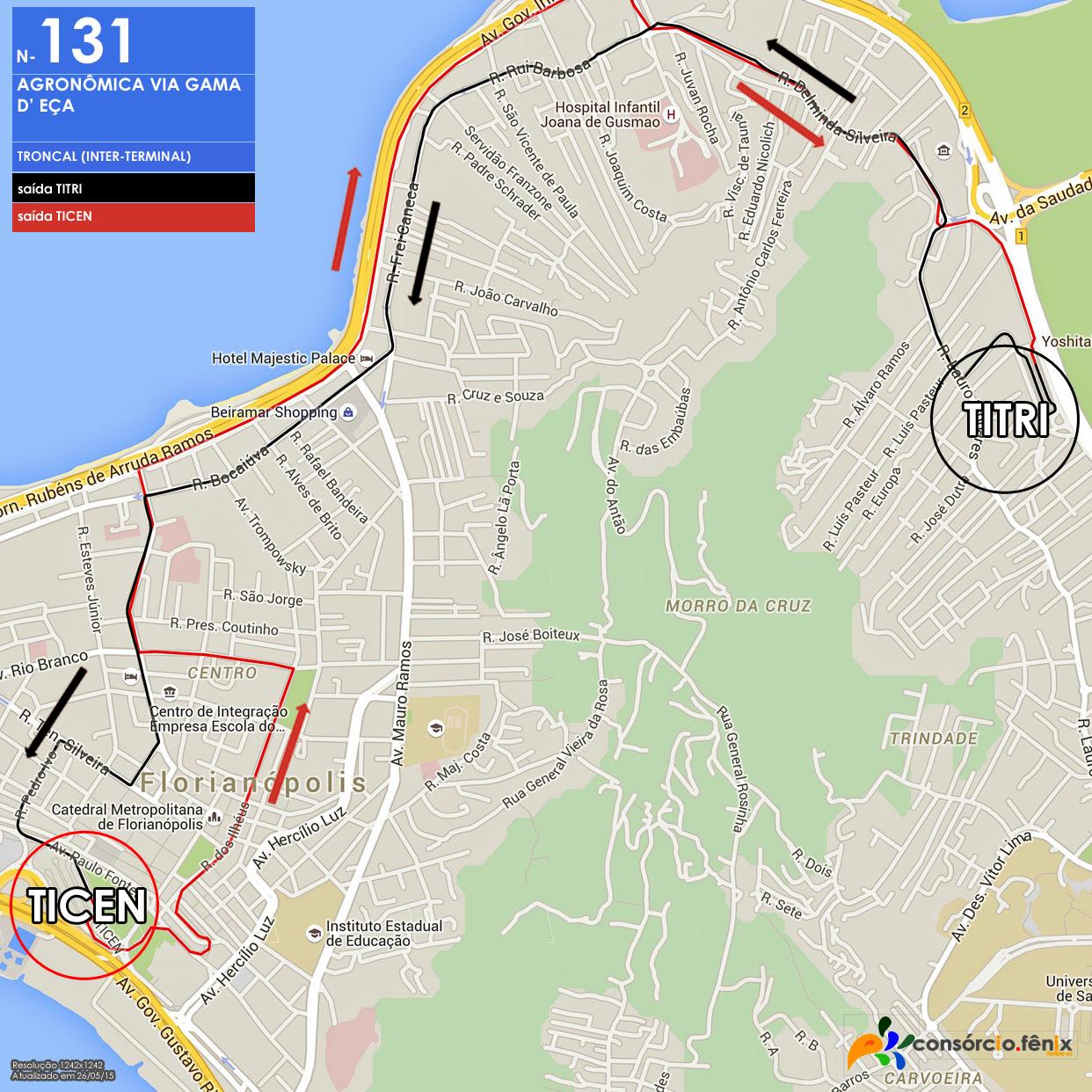 Horario de Onibus TITRI - TICEN via Gama D'Eça