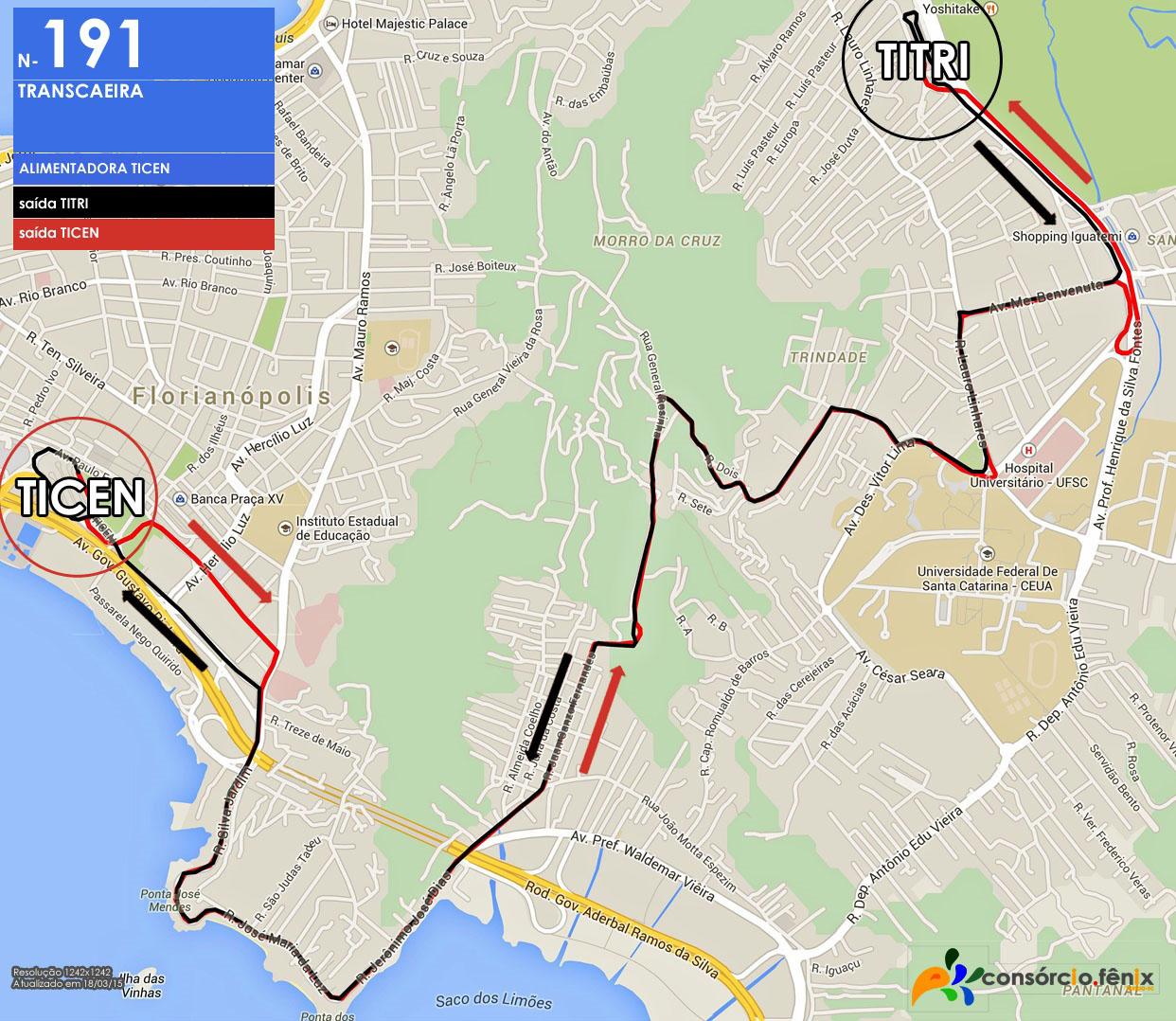 Horario de Onibus TITRI - TICEN via Transcaeira