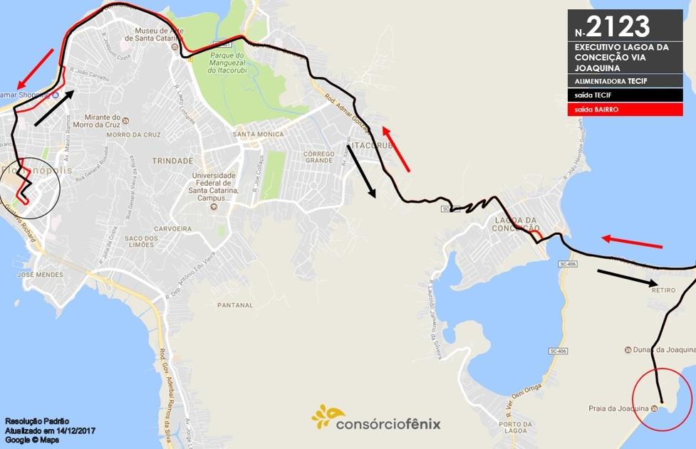 Horario de Onibus Executivo Lagoa da Conceição via Joaquina