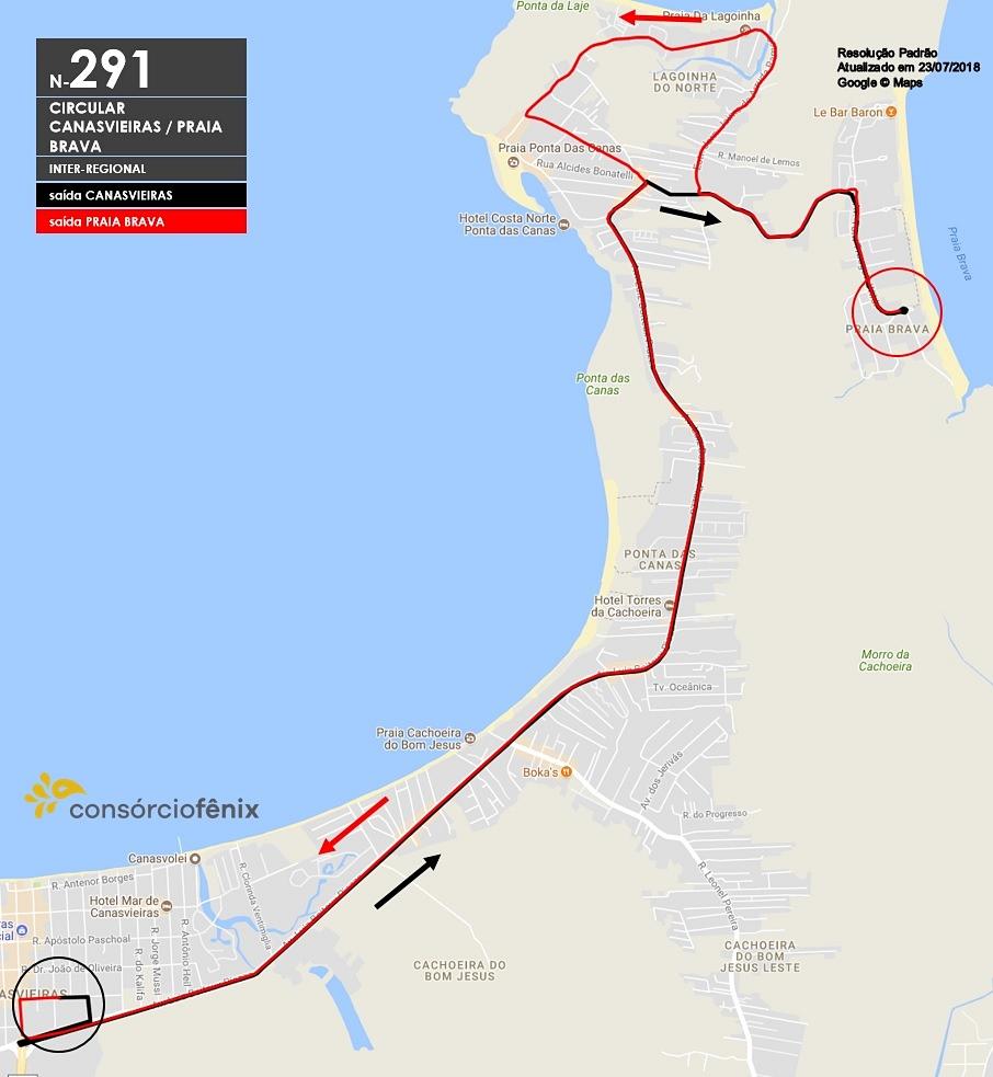 Horario de Onibus Circular Canasvieiras/Praia Brava