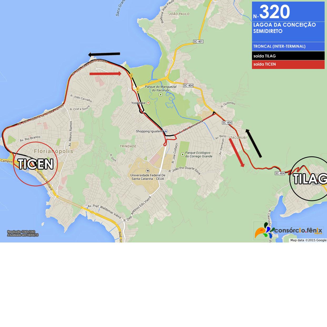 Horario de Onibus TILAG - TICEN via Beira Mar