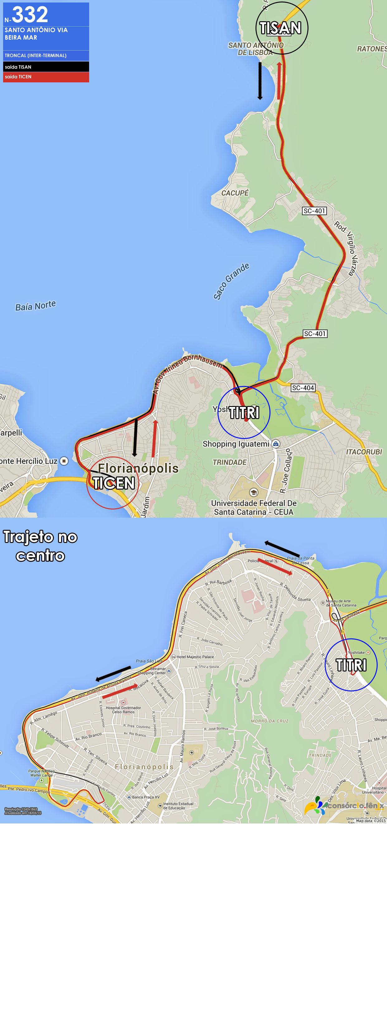 Horario de Onibus TISAN - TICEN via Beira Mar