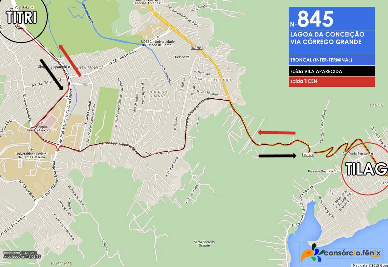 Horario de Onibus TILAG - TITRI via Córrego Grande