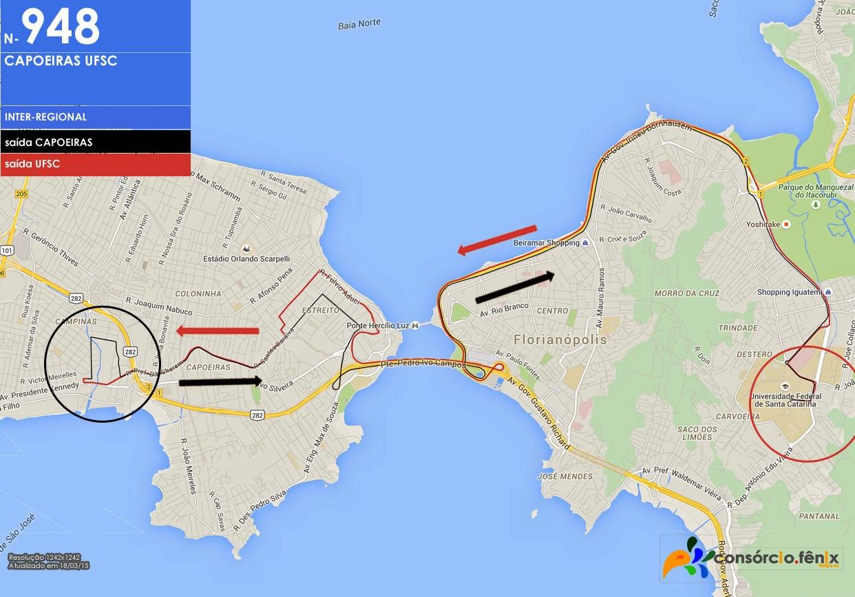 Horario de Onibus Capoeiras - UFSC